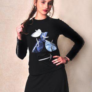 חצאי עיגול עם טאצ' לורקס איקסים – תכלת