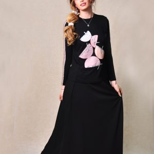 מעוצב בחצאי עיגול עם טאצ' לורקס איקסים – ורוד