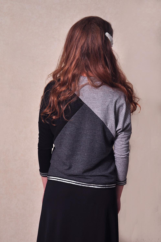 בגדי בית ליידיס - סריג אפור שחור מקולקציית 2020 של ליידיס - תמונת גב