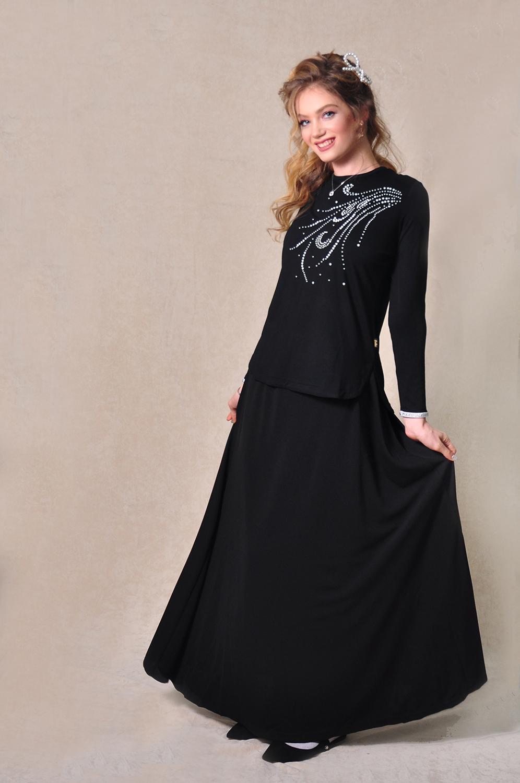 LA305-3 - עליונית שבתי אלגנטי בשילוב אבני חן בצבע כסוף מקולקציית 2020 של בגדי הבית ליידיס