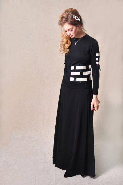 LA306-2: בגדי בית ליידיס - עליונית אלגנטית שתי וערב בצבע שמנת מקולקציית 2020