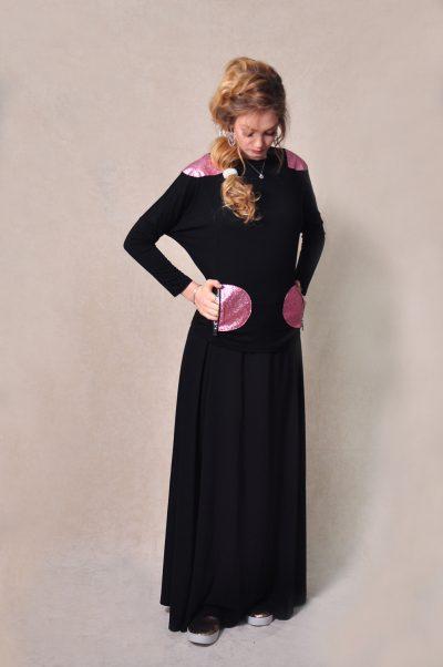 עליונית עם חצאי עיגול ורוד מקולקציית 2020 של בגדי הבית ליידיס