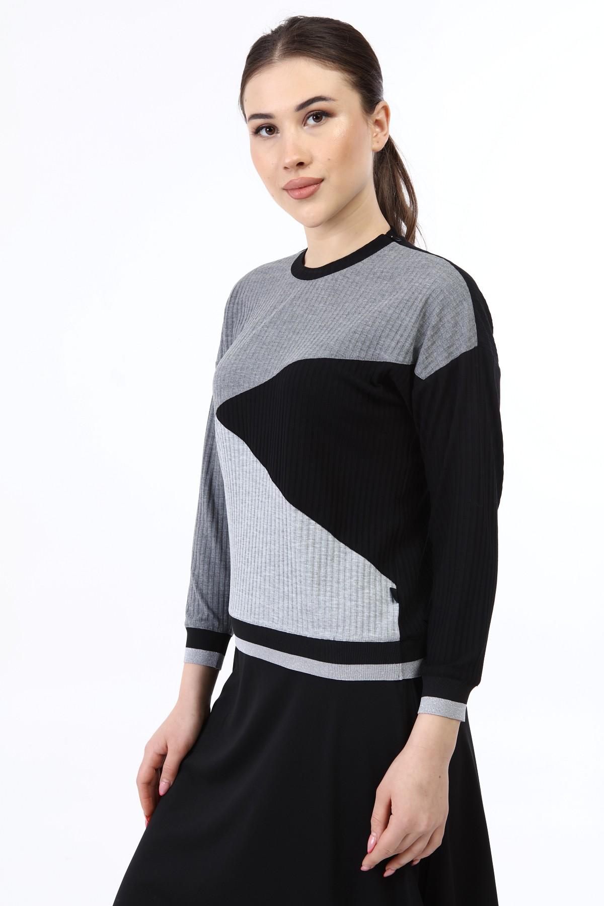 בגדי בית ליידיס - עליונית משולשים אפורים קולקציית 2021 דגם H04
