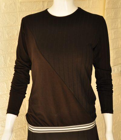 בגדי בית ליידיס - עליונית דגם LA321 - ספורטיבי פסים