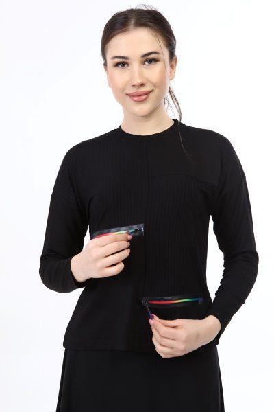 בגדי בית ליידיס - עליונית רוכסנים צבעוני קולקציית 2021